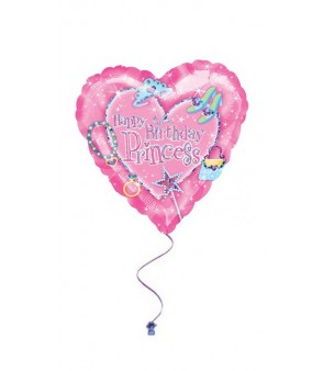 Princess Birthday Holographic Balloon 18in