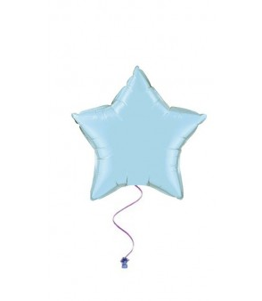 Plain star balloons blue