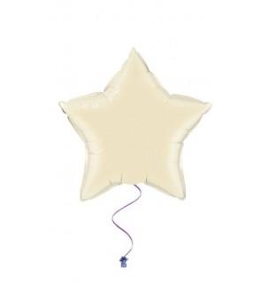 plain star balloons ivory