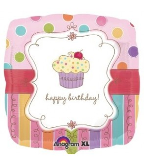Sweet Stuff Cupcake Foil Balloon 18in