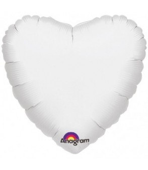 "White H 18"" Foil Balloon in a Box"