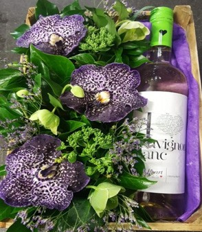 Wine Flower Crate