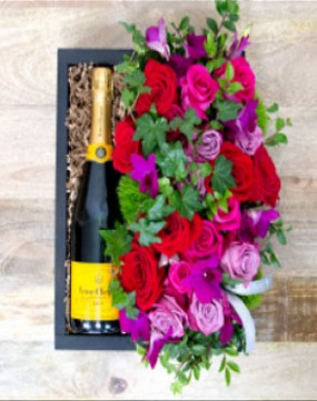 Champagne Flower Crate