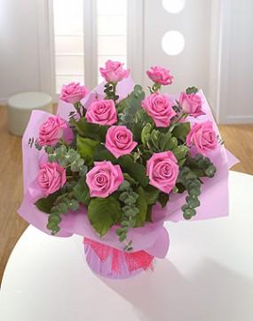 Dozen Pale Pink Roses