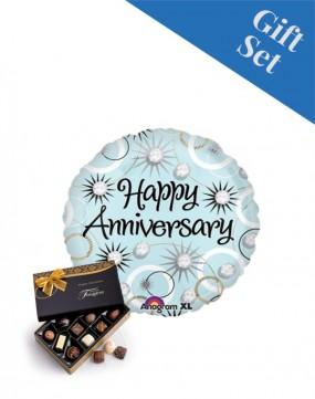 Happy Anniversary Diamonds Balloon