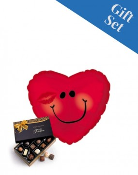 Love Smiley Face 18' Foil Balloon & Chocs