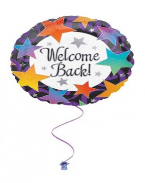 """Welcome Back 18"""" Foil Balloon"""