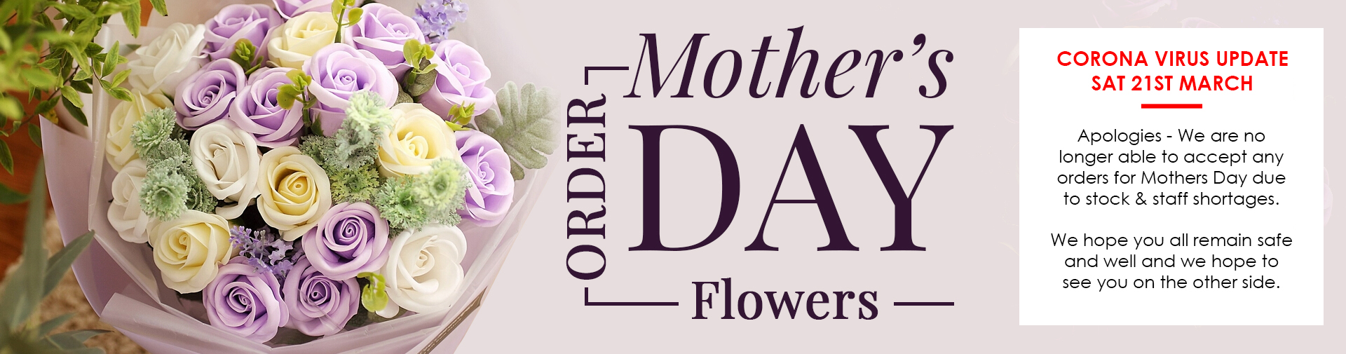 mothers day flowers offer banner